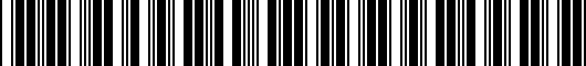 Barcode for PT2064811020