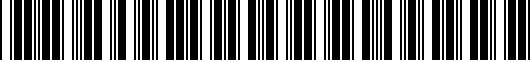 Barcode for PT2085115240
