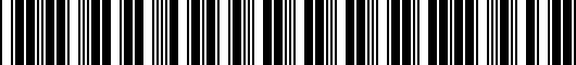 Barcode for PT39800070CL